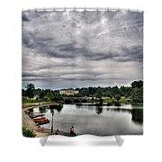 Hoyt Lake Delaware Park 0003 Shower Curtain