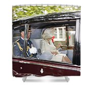 Hrh Prince Charles And Camilla Shower Curtain