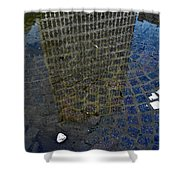 Hsbc Plaza Reflection Shower Curtain
