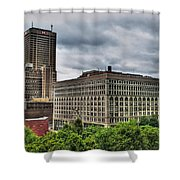 Hsbc Tower    Ellicott Square Buliding Shower Curtain
