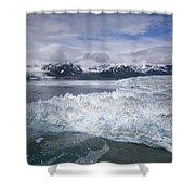 Hubbard Glacier Encroaching On Gilbert Point Shower Curtain