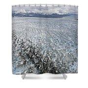 Hubbard Glacier, Gilbert Point Shower Curtain