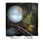 Hubcaps And Oil Cans Shower Curtain by Steve McKinzie