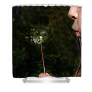 Huff N Puff Shower Curtain
