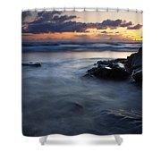 Hug Point Sunset Shower Curtain