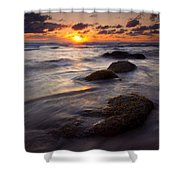 Hug Point Tides Shower Curtain