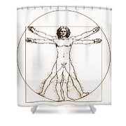 Human Body By Da Vinci Shower Curtain