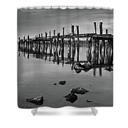 Humboldt Bay Ruins Shower Curtain