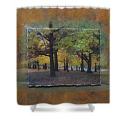 Humboldt Park Trees Layered Shower Curtain