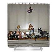 Hummel Nativity Set Shower Curtain