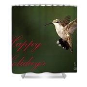 Hummingbird Holiday Card Shower Curtain