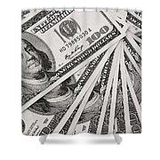Hundred Dollar Bills Shower Curtain