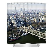 Hungerford Bridge Seen From London Eye Shower Curtain
