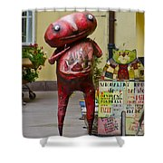Hungry Alien Shower Curtain