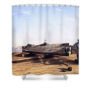 Hunley Submarine, 1863 Shower Curtain