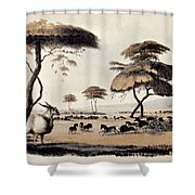 Hunting At Meritsane, Shower Curtain