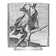 Hunting Horn, 1723 Shower Curtain