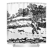 Hunting: Winter, C1800 Shower Curtain