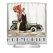 Hupmobile Ad, 1926 Shower Curtain