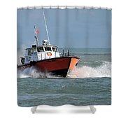 Huron Belle Pilot Boat Shower Curtain