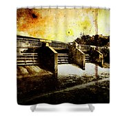 Huron River Dam Shower Curtain