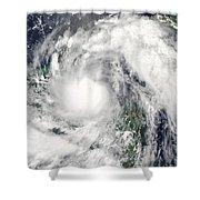 Hurricane Alex Shower Curtain