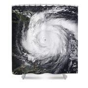 Hurricane Dean In The Atlantic Shower Curtain