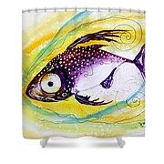 Hurricane Fish 7 Shower Curtain