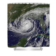 Hurricane Isaac In The Gulf Of Mexico Shower Curtain