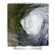 Hurricane Isaac Makes Its Second Shower Curtain