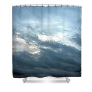 Hurricane Isaac Storm Clouds Shower Curtain