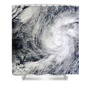 Hurricane Kenneth Off The Coast Shower Curtain