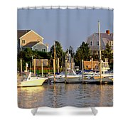 Hyannis Harbor At Sunset Shower Curtain