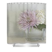 Hydrangea And Mum Shower Curtain