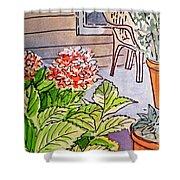 Hydrangea Sketchbook Project Down My Street Shower Curtain by Irina Sztukowski