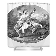 Hymen And Cupid Shower Curtain