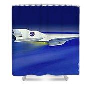 Hyper-x Hypersonic Aircraft Shower Curtain