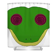 Hypno Frog Shower Curtain
