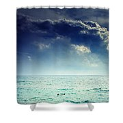 I Am Alone Shower Curtain by Stelios Kleanthous