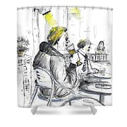 I Am Only Here For The Beer Shower Curtain
