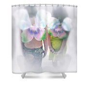I Dreamed I Was A Butterfly Shower Curtain