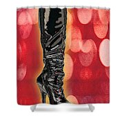 I Love The Night Life Patent Boots Shower Curtain