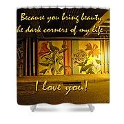 I Love You Night Graffiti Greeting Card Shower Curtain