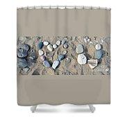 I Loveu Pebbles Shower Curtain