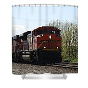 I See The Train A Comin' Shower Curtain