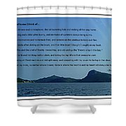 I Think Of Home Shower Curtain