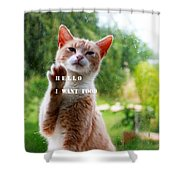 I Want Food Cat Shower Curtain