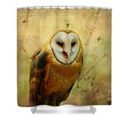 I Will Make You Smile Owl Shower Curtain