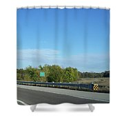 I55 Crossing Money Creek Shower Curtain