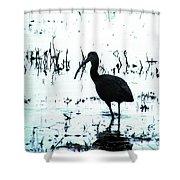 Ibis By Pintail Nature Drive Cameron Prairie Nwr La Shower Curtain